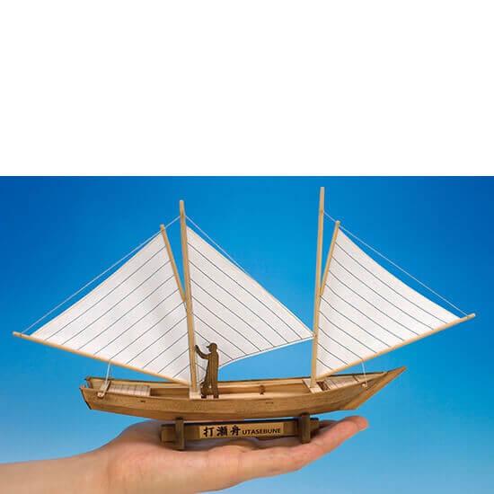ウッディジョー木製建築模型ミニ和船打瀬舟