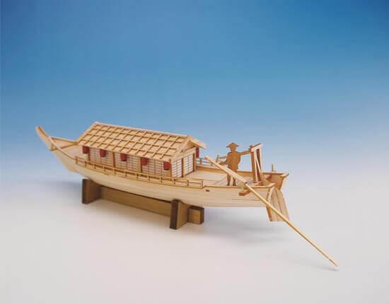 ウッディジョー木製建築模型ミニ和船屋形船