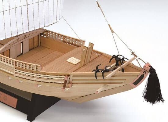 ウッディジョー木製建築模型1/72北前船