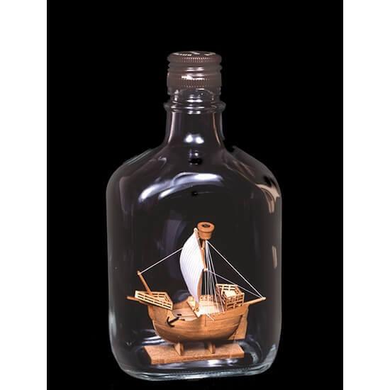 ウッディジョー木製建築模型ボトルシップNo.3カタロニア船※瓶はキットに含まれていません