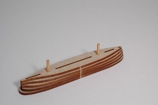 ウッディジョー木製建築模型ミニ帆船No.1カティサーク