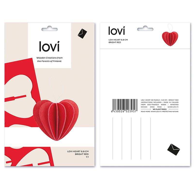 ハート【4cm】 / Lovi (ロヴィ) オーナメントカード 【ポイント10%】【日本総代理店】メール便可