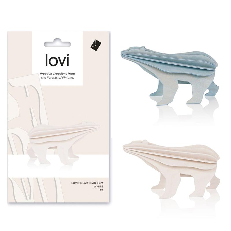 ホッキョクグマ【7cm】/ Lovi(ロヴィ)オーナメントカード【日本総代理店】メール便可