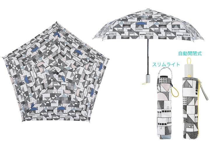 【日傘/雨傘】 折りたたみ ワンタッチ自動開閉 軽量スリムライト korko (コルコ) UVカット 遮光率 99%以上 UPF50+