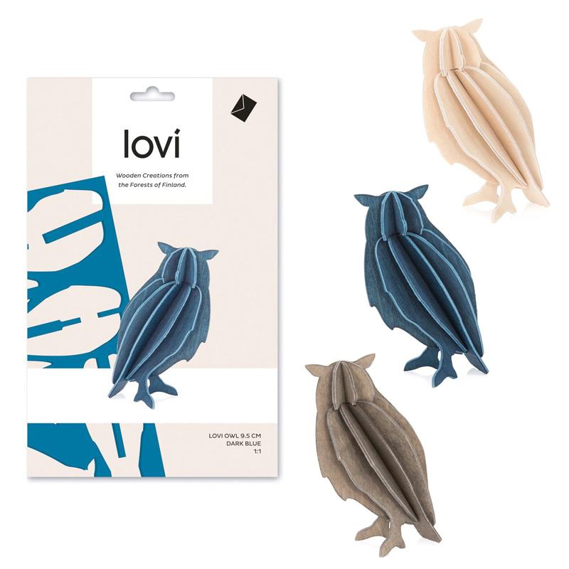 フクロウ【9.5cm】/ Lovi(ロヴィ) オーナメントカード【ポイント10%】【日本総代理店】メール便可