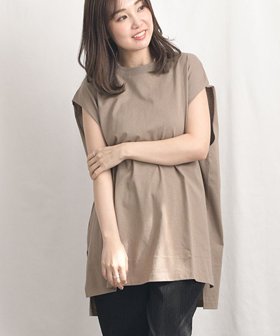 Frenchsleeve long T-shirt 24037 【2枚までメール便配送対応】