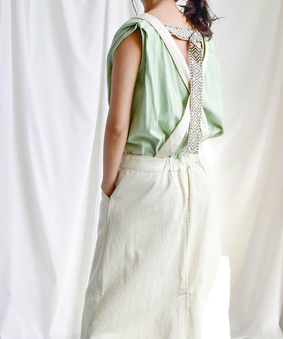 【SALE/クーポン利用不可・返品交換不可】Back belt flare sleeveless tops 24149  75%OFF
