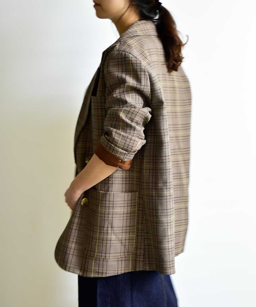グレンチェックジャケット 21026 【ゆうパックのみ】
