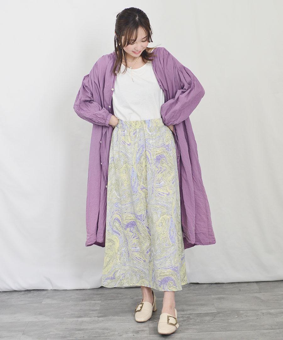 Cotton sheer volume shirt one-piece 2901401 【宅急便配送のみ】