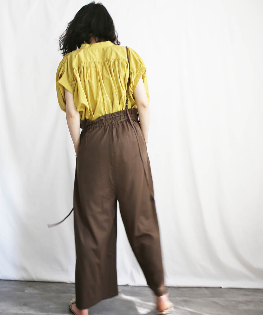 Double strap wide salopette 29089 【メール便配送対応】