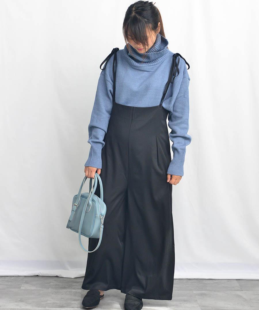 Double strap wide salopette 29089 【メール便配送対応】