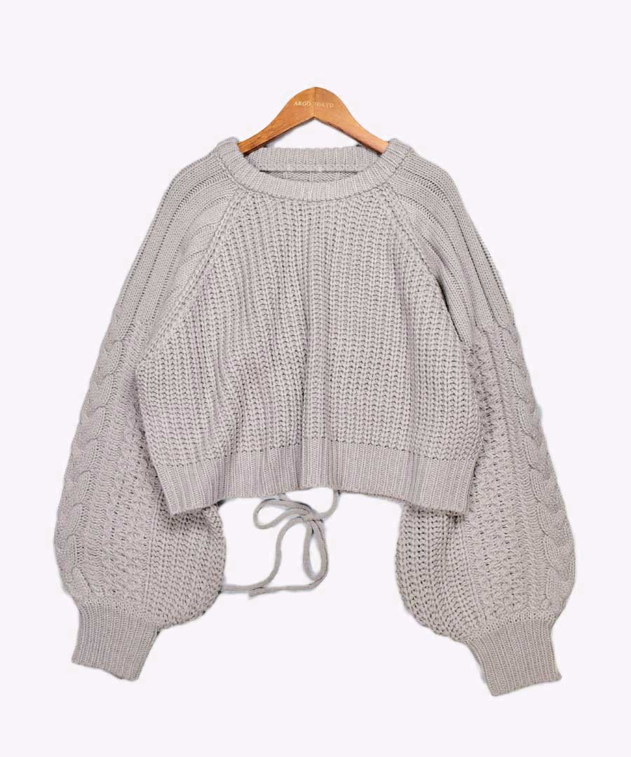 Back open knit pullover 25006 【宅急便配送のみ配送】