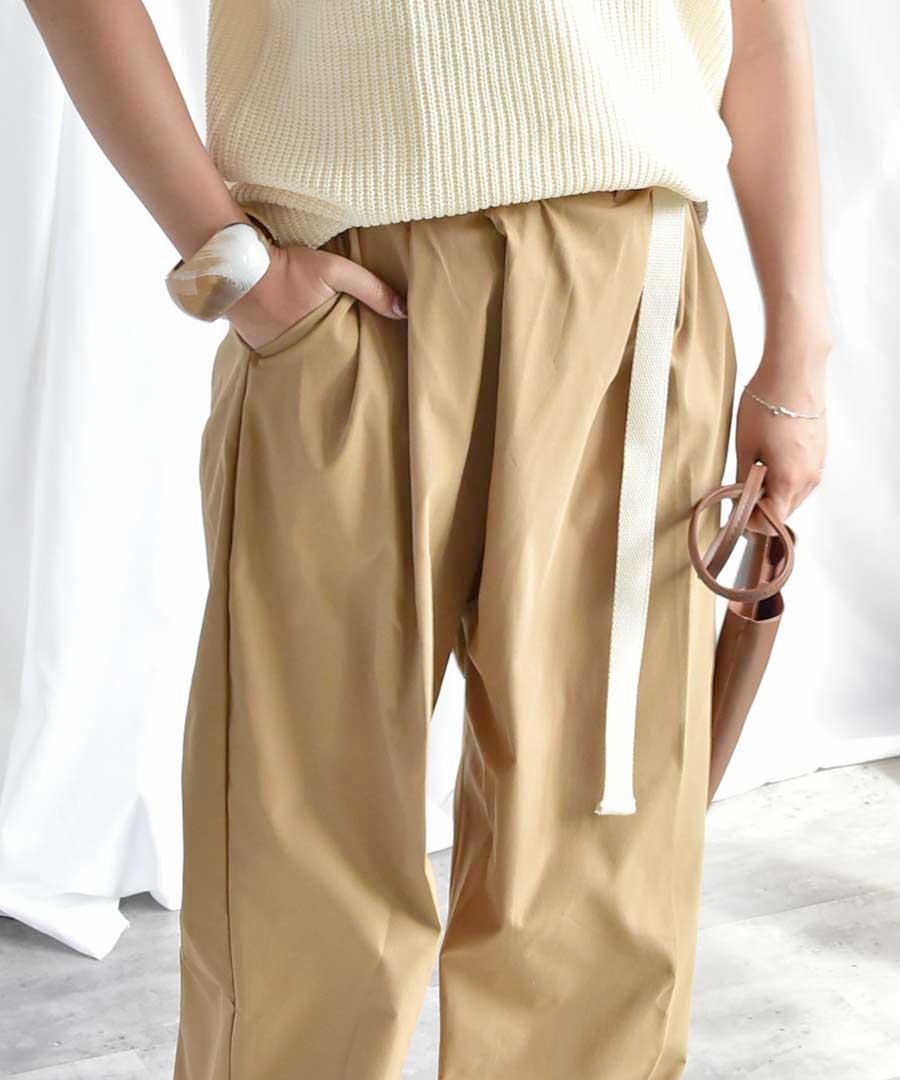 【SALE/クーポン利用不可・返品交換不可】Belted wrap pants 22020 【メール便配送対応】
