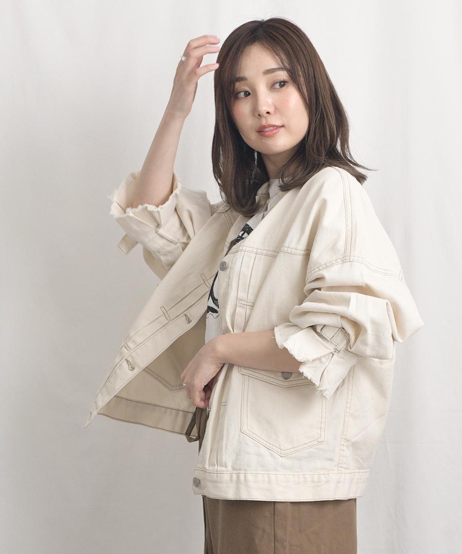 Candy sleeve twill jacket 21027 【宅急便配送のみ】