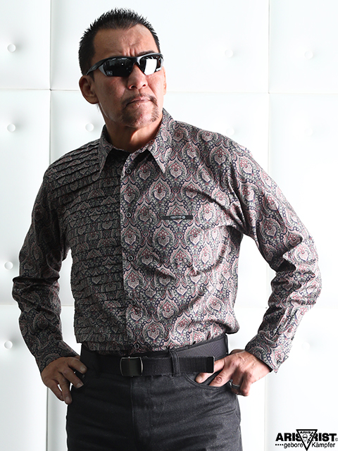 ATフローラルパターンシャツ