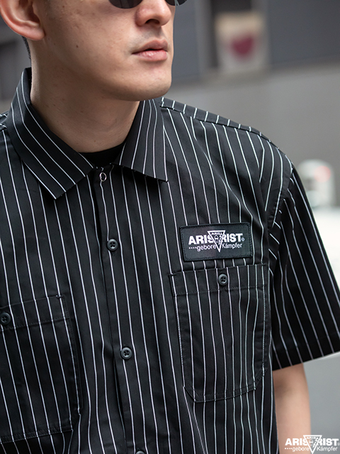 ATストライプワークシャツ