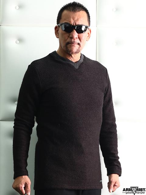 ATインレイステッチセーター