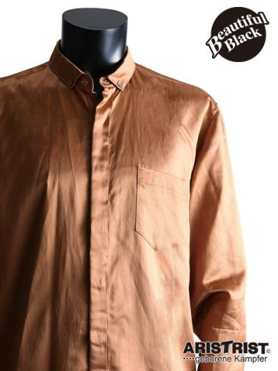 ATブロンズサテンシャツ