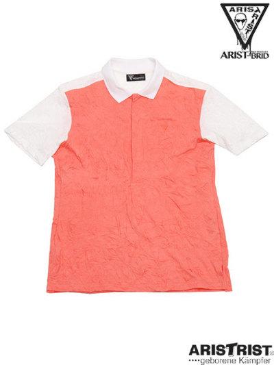 ATバイカラーポロシャツ