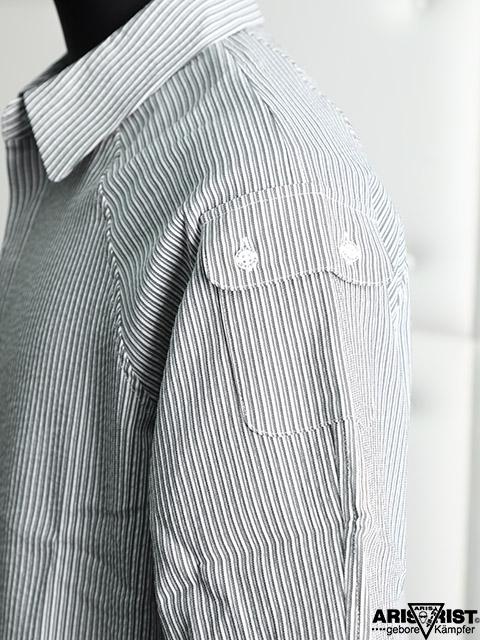 ATラグランストライプシャツ
