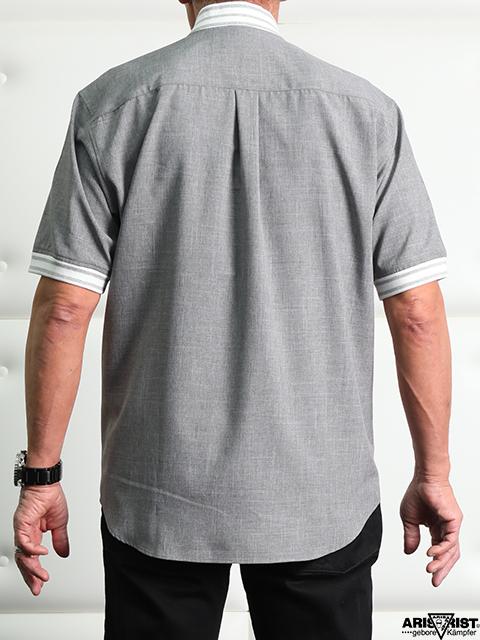 AT ダンガリージッパーシャツ