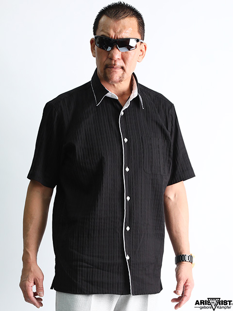 ATタックプリーツシャツ