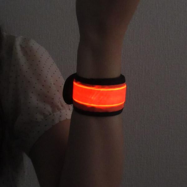 LEDリストバンド ワンタッチ式 ボタン電池交換式