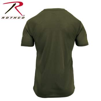 【正規品】ロスコ  タクティカル アスレチック フィット Tシャツ オリーブ Sサイズ ショートスリーブ ポリエステル 1668【メール便配送可】