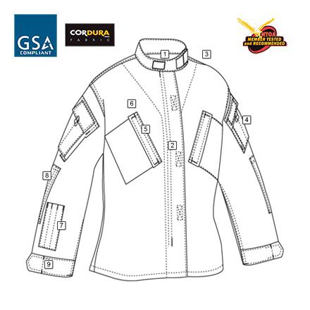 トゥルースペック/TRU-SPEC レスポンス シャツ マルチカム アライド XSS 1325