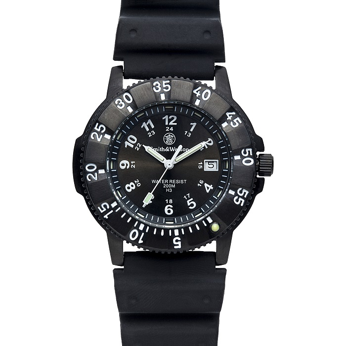 スミス&ウェッソン/ トリチウム H3 ミリタリーウォッチ 腕時計 SW450BLK S&W Tritium