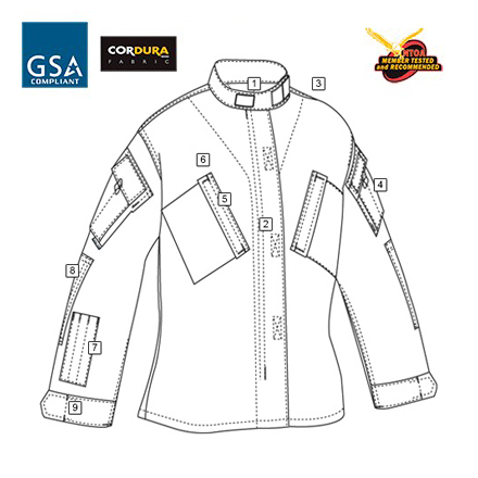 トゥルースペック/TRU-SPEC レスポンス ユニホーム シャツ マルチカム ブラック XSR