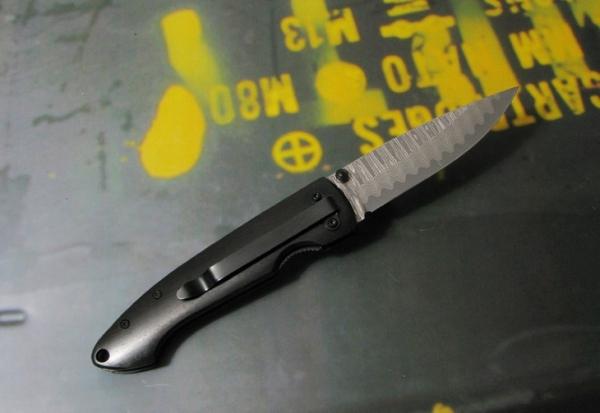 BOKER Plus/ボーカー プラス 01BO101DAM ダマスカス・ジェント1 折り畳ナイフ 【レターパックプラス便配送可】