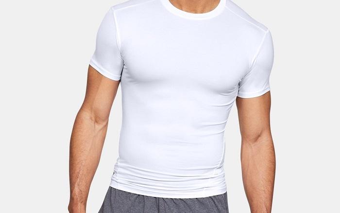 軍用 アンダーアーマー/Under Armour タクティカル コンプレッション Tシャツ ホワイト S ヒートギア HEAT GEAR 【メール便配送可】