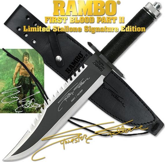 ランボー 2/RAMBO II ファーストブラッド サバイバルナイフ RB2 シルベスター サイン