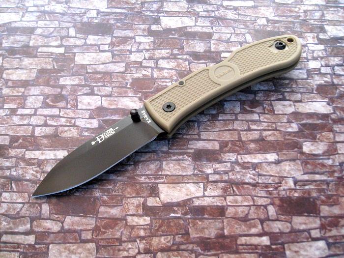 ケーバー/KA-BAR KA4062FG ドージア ハンター ブラック直刃/CB 折り畳みナイフ【メール便配送可】