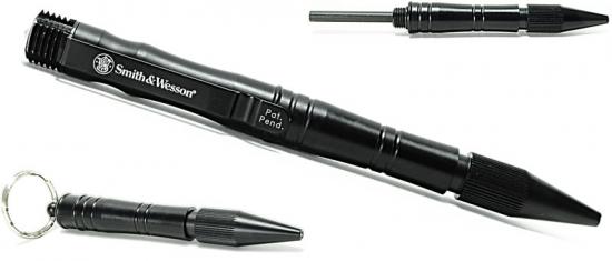 (正規品)スミス&ウェッソン/S&W タクティカルペン2 ブラック ファイヤースターター付(火打石)