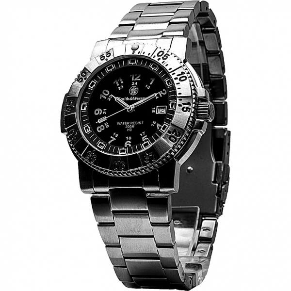 スミス&ウェッソン/S&W アビエイター ミリタリーウォッチ 発光トリチウム 腕時計 SW357SS