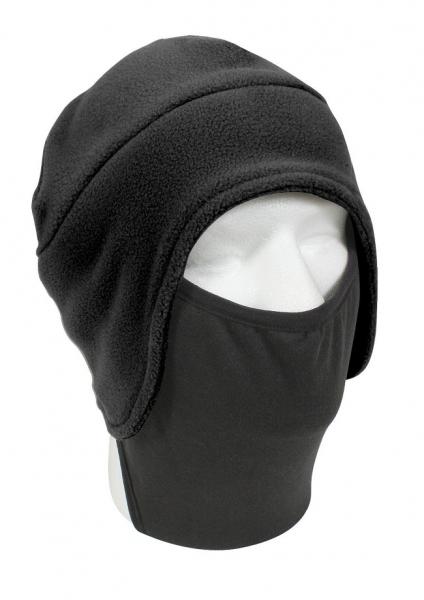 【メール便配送可】ロスコ/ROTHCO 防寒用 フリース 帽子 フェイスマスク付 ブラック 8943