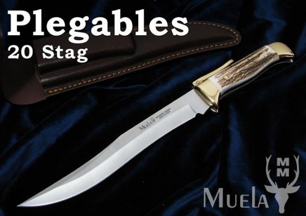 Muela/ムエラ PG-20A ロングブレード 200mm スタッグハンドル 折り畳みナイ