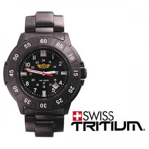 ウージー/UZI ミリタリーウォッチ 発光トリチウム 腕時計 UZI-001M