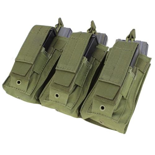コンドル/CONDOR タクティカル MA55 トリプルカンガルー M4 マガジン ポーチ OD【レターパックプラス便配送可】