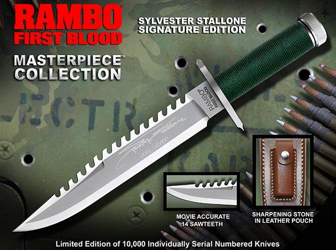 ランボー 1/RAMBO I ファースト サバイバルナイフ RB1 シルベスター・スタローンサイン入