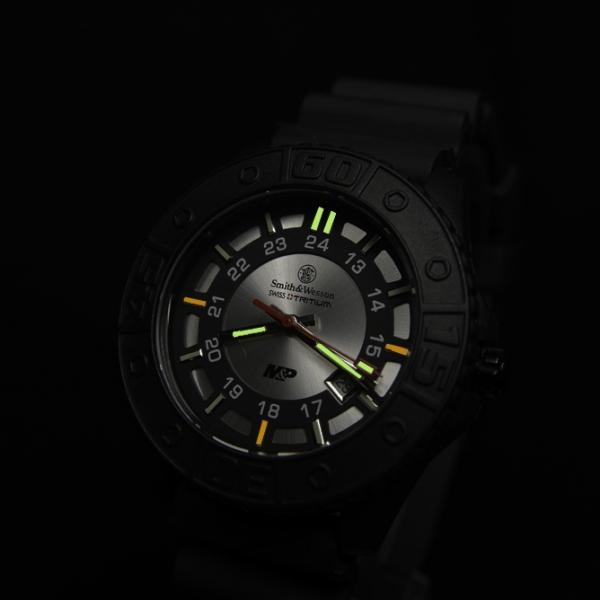スミス&ウェッソン S&W M&P ウォッチ 発光トリチウム 腕時計 SWMP18gry