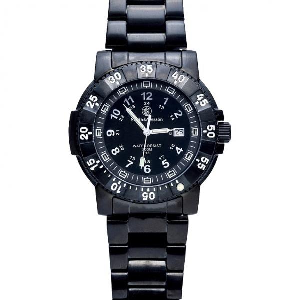 スミス&ウェッソン/S&W コマンダー ミリタリーウォッチ 発光トリチウム 腕時計 SW357BSS