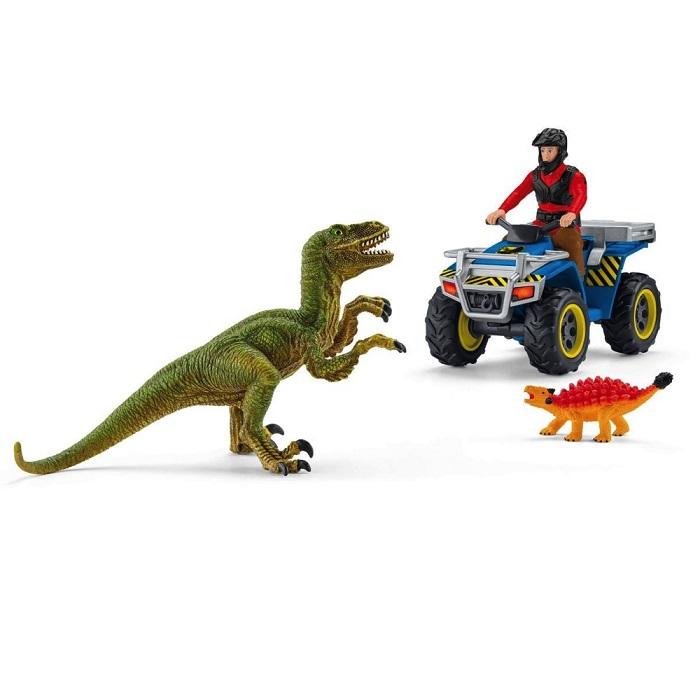 Schleich (シュライヒ) 恐竜 ベロキラプトルとクワッドバイク 41466