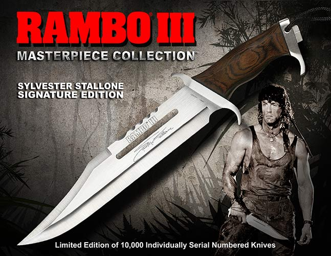 ランボー/RAMBO  スタンダード サバイバルナイフ RB3 シルベスター・スタローンサイン入り