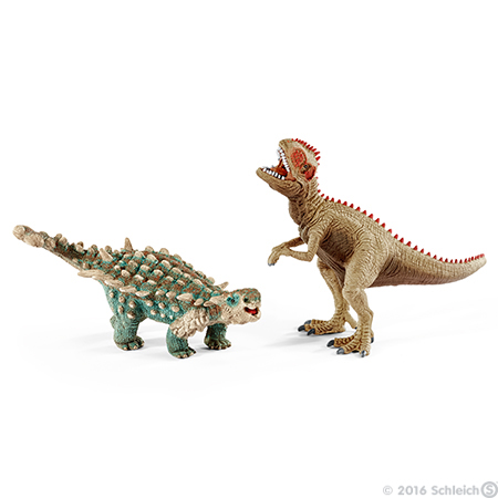 ☆Schleich (シュライヒ) サイカニアとギガノトサウルス(小) 41426