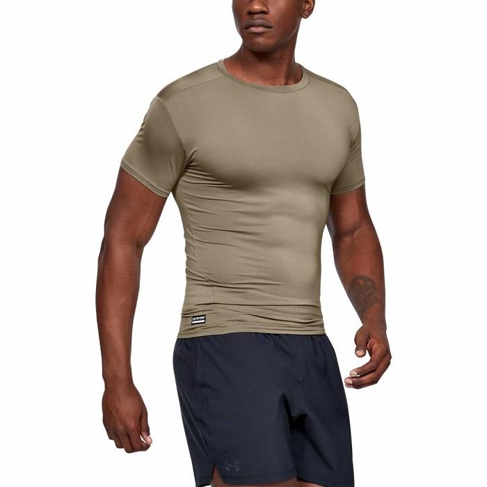 軍用 アンダーアーマー/Under Armour タクティカル コンプレッション ミリタリー Tシャツ Mサイズ フェデラルタン  ヒートギア HEAT GEAR 【メール便配送可】