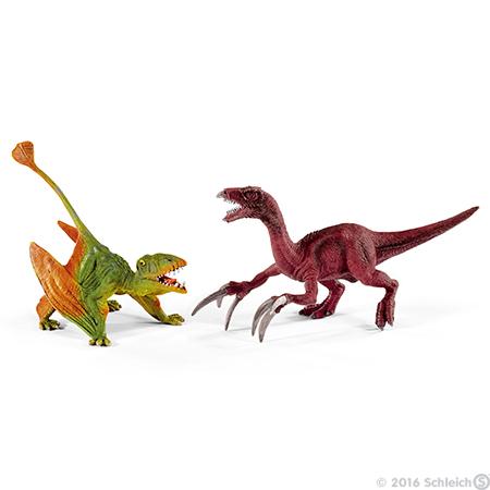 ☆Schleich (シュライヒ) ディモルフォドンとテリジノサウルス(小) 41425