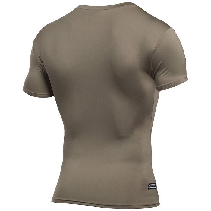 軍用 アンダーアーマー/Under Armour タクティカル コンプレッション ミリタリー Tシャツ Lサイズ フェデラルタン  ヒートギア HEAT GEAR 【メール便配送可】